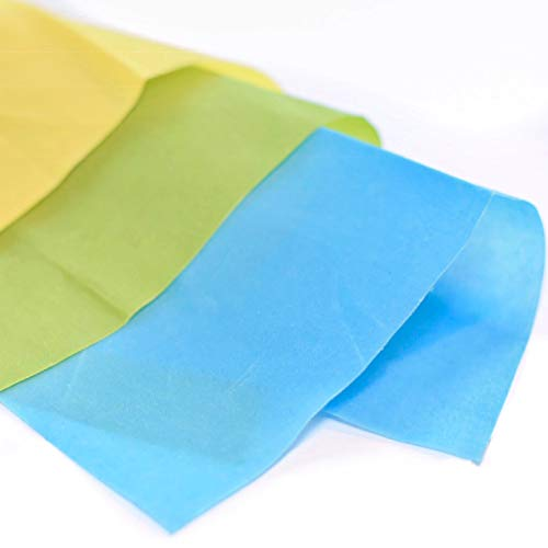 Beeswax Wrap - Reusable, Eco-Friendly, All Natural Food Storage Wraps - Assorted Color Set 3-Pack - Small (7 x 8), Medium (10 x 11), Large (13 x 14)