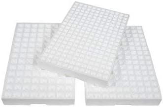 8 Bandejas de germinación de pórex, semilleros de Corcho Blanco con 216 Orificios