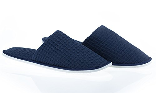 Slippers LUXEHOME 2 Closed Set and Different 5 Toe Colors Spa Waffle Sizes of Include zZwUZ0rqB