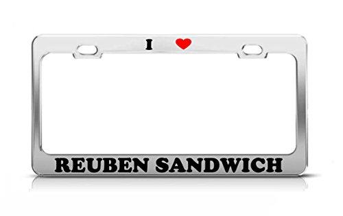 I HEART REUBEN SANDWICH Food Fruit Vegetable Metal Tag License Plate Frame