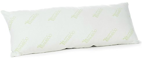 Bamboo Body Pillow- Extra Plush Derived Rayon Hypoallergenic Down Alternative Premium Fiber Full Body Pregnancy / Maternity Pillows - by Deluxe Home (Body Pillow)