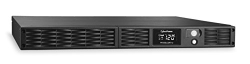 CyberPower PR1000LCDRT1U Smart App Sinewave UPS System, 1000VA/800W, 7 Outlets, AVR, 1U Rack/Tower -