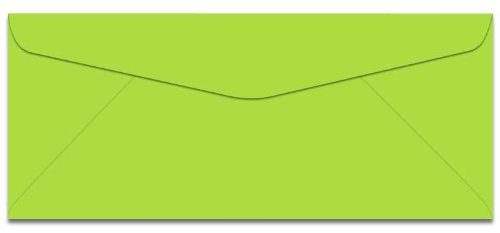 Lime Green Envelopes (#10 Colored Envelope-Color Lime-4 1/8 x 9 1/2 -24Lb-50 Pck (Lime))