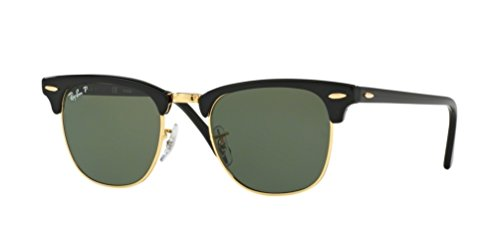 Ray Ban Sunglasses Clubmaster 3016 (51 mm, Tortoise Frame Solid Black - 3016 Sunglasses Ray Ban