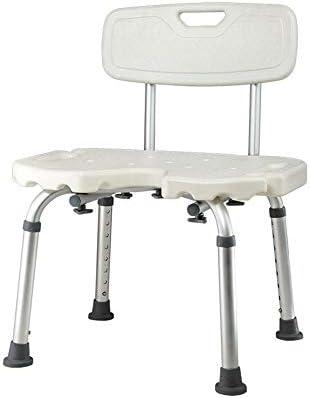 Mit Armlehnen Abnehmbare Rückenlehne Badestuhl 8 Dateien Höhenverstellbar Anti-Rutsch-Saugnapf Basis Ältere Schwangere Badestuhl Lagergewicht 140Kg