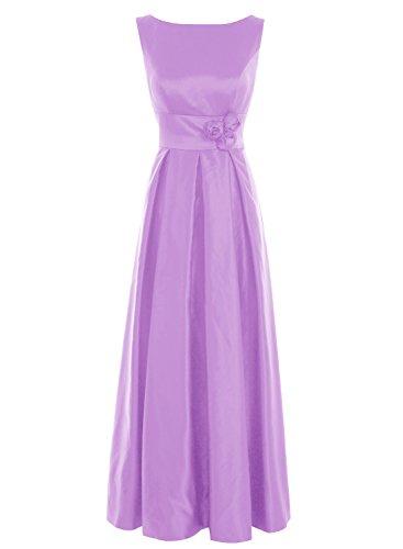 Bbonlinedress Vestido De Madrina Elegante Largo Sin Mangas Vestido De Ceremonia Lila