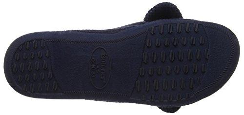 Pantofole Toe Donna Isotoner Ladies Blu Knot Slipper Navy Open Nav w4xHXxZ