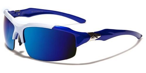 Arctic Blue Mens Fashion Sports Wrap Sunglasses - Blue Revo Lens - Fishing, Baseball, Boating, Skiing - Several Colors Available! (Blue - - Blue Sunglasses Arctic