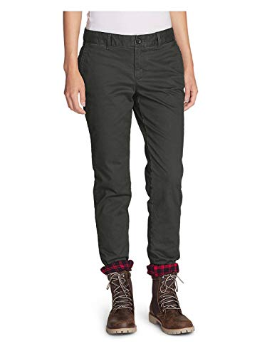 Legend Boyfriend Jeans - Eddie Bauer Women's Stretch Legend Wash Flannel-Lined Pants - Boyfriend, Carbon