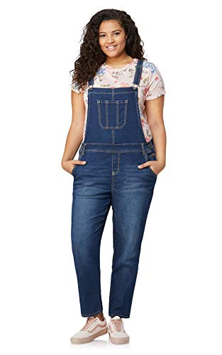 WallFlower Plus-Size Denim Overalls in Daytona, 2X by WallFlower