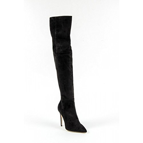 Versace 19.69 Hohe Stiefel Damen/Damen-Bootsschuhe Fersen 10.5 cm 100%Wildleder Leder