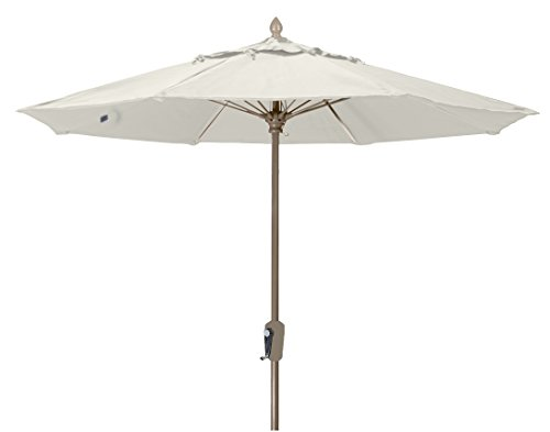 FiberBuilt Umbrellas 9MCRCB-8605 Market Umbrella, 9' Marine Grade Canopy, Natural White (Beach Umbrella Fiberbuilt)
