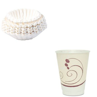 Trophy Foam (KITBUN1M5002SLOX12J8002PK - Value Kit - Solo Symphony Design Trophy Foam Hot/Cold Drink Cups (SLOX12J8002PK) and Bunn Coffee Commercial Coffee Filters (BUN1M5002))