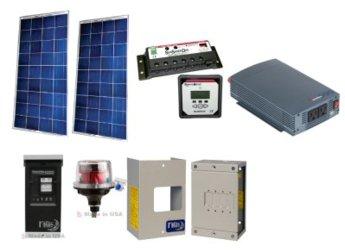 Off-grid 300w Cabin Solar Power System - Base Kit