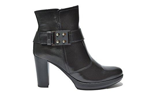 Negro Giardini–Tronco de Mujer en Piel con tacón A513760D 100 Capra Nero