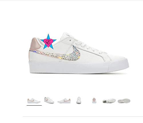 f36065d879339e Image Unavailable. Image not available for. Color  Custom Crystal Bling  Women s Nike Court Royale Sneakers