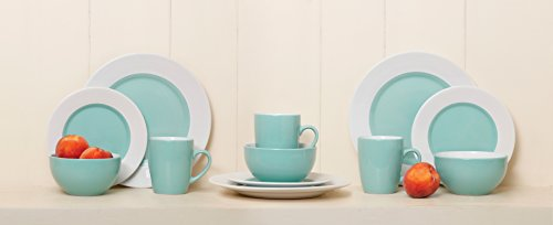 Large Product Image of Gibson Home Style Deluxe 16-Piece Dinnerware Set, Blue