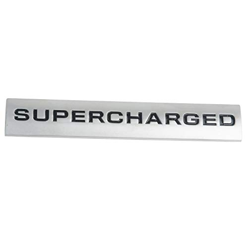 (Car Styling 3D Metal Supercharged Car Side Body Trunk Emblem Badge Sticker Exterior Decal for Range Rover Land Rover Sport)