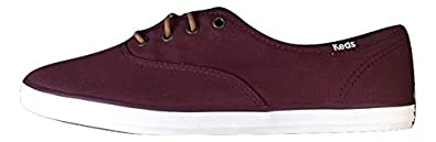 well-wreapped Keds Womens CH Ox Canvas Sneakers Shoes- Burgundy