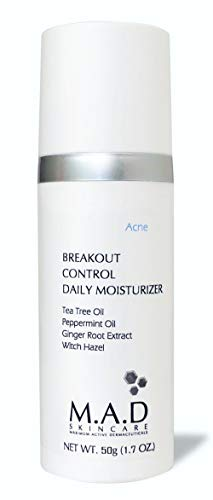 M.A.D Skincare Breakout Control Daily Moisturizer - For Acne Prone Skin 1.7 oz (Best Daily Moisturizer For Acne Prone Skin)