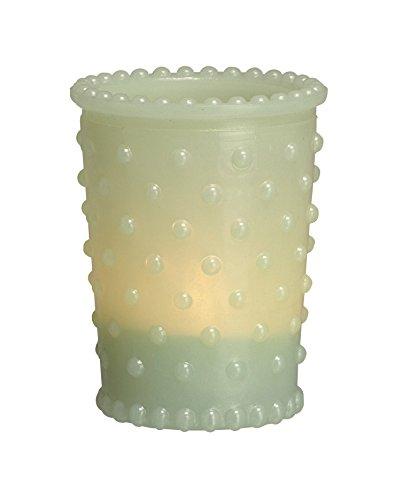 Transpac Glass Hobnail Tealight Holder