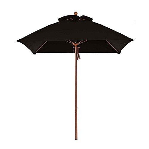 Square Fiberglass Market Umbrella - 6.5 ft. Square Commercial Grade Fiberglass Market Umbrella with Acrylic Fabric, Aluminum Pole, Pulley Lift, Non Tilt