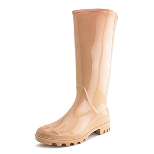Easy Womens Four-Season Outdoor Rain Boots (Adults) Nude EXF9JHmZ1h