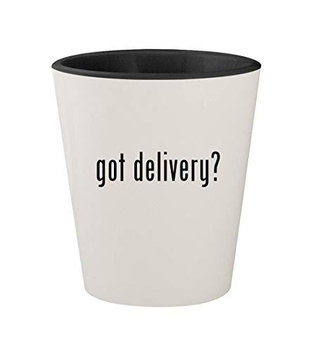 got delivery? - Ceramic White Outer & Black Inner 1.5oz Shot Glass