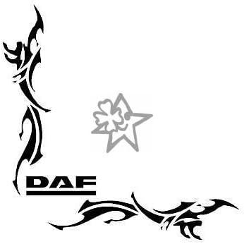 27 cm Aufkleber LKW Truck Tuning Trucker Sticker Decal von MYROCKSHIRT 2x DAF XF No72 Tribal Seitenscheibe ca