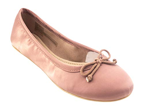Steve Madden Women's Thea Ballet Flat, Rose, 8 M