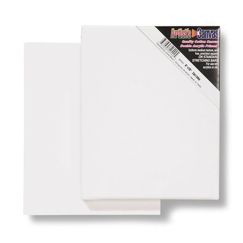 Bulk Buy: Darice DIY Crafts Stretched Canvas 8 x 10 inches 2 pieces (20-Pack) 97603 by Darice