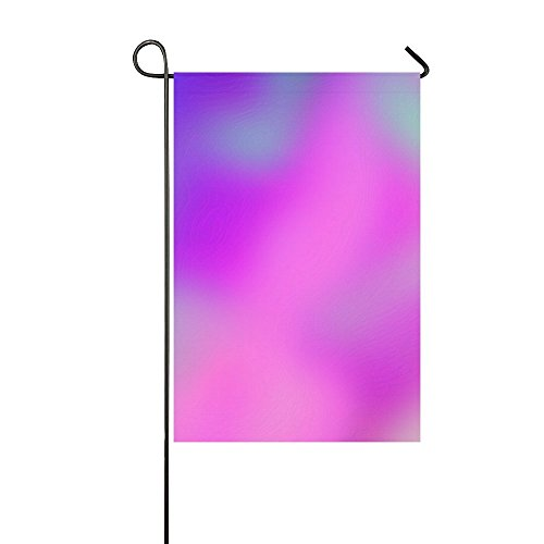 ve Outdoor Double Sided Pink Simply Pattern Banner Texture Garden Flag,house Yard Flag,garden Yard Decorations,seasonal Welcome Outdoor Flag 12 X 18 Inch Spring Summer Gift ()