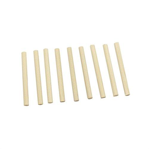 MonkeyJack 10 Pieces Wood Violin Soundpost Column 3/4 4/4 Violin Practice Musical Instrument Accessory
