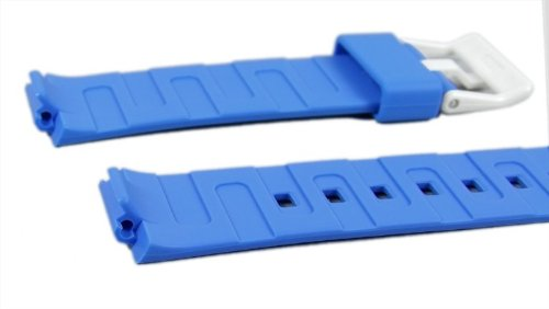 Casio watch strap watchband Resin Band Blue LDF-50-2EF LDF-50 LDF-52 by Casio