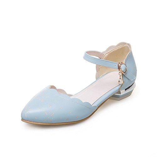 Femme Plateforme Sandales SLC04268 AdeeSu Bleu Zqx07Ptw