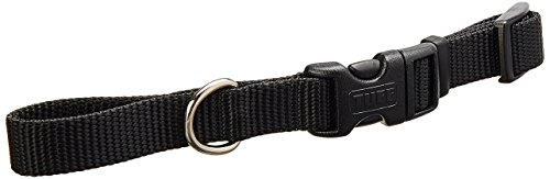 Coastal Pet Products DCP6401BLK 5/8-Inch Nylon Adjustable Dog Collar, Small, Black