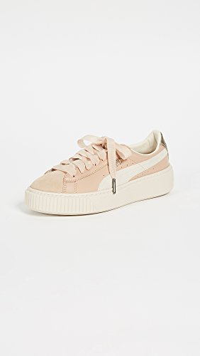 PUMA Women's Platform Up Sneakers, Natural Vachetta/Birch, 9 B(M) US