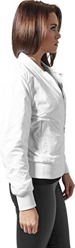 Light Giacca Ladies Bomber Urban Classics Bianco Donna Jacket xqzTzSwE