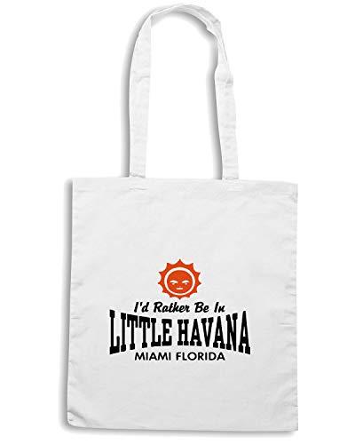 Speed Shirt Borsa Shopper Bianca OLDENG00163 LITTLE HAVANA FL