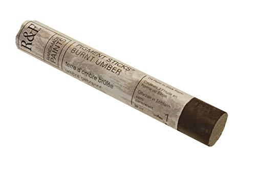 Burnt Umber Oil - R&F Handmade Paints Oil Pigment Stick, 38ml, Burnt Umber