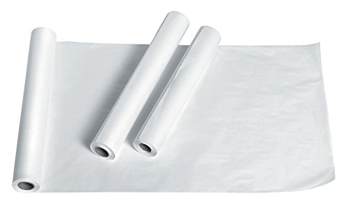 Medline NON24326 Exam Table Paper, Deluxe Smooth, 21'' x 225ft, White (Case of 12 Rolls)