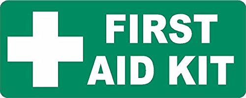 First Aid Kit Inside Sticker Decal Self Adhesive Vinyl emergency rescue GREEN