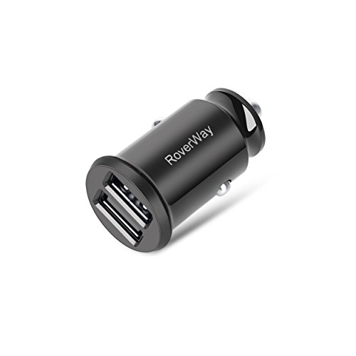 Car Charger, RoverWay QC3 Mini Car Charger Dual USB 4.8A Output Car-Charger Fast Charging Quick Charge for iPhone X / 8 / 7 / Plus, iPad Pro / Air 2 / mini, Samsung Galaxy Note8 / S8 / S8+ and More (1x1pcs)