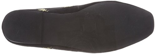 Donna Embroidery black Mule Mocassini Bianco Nero 10 tSwCqvxd
