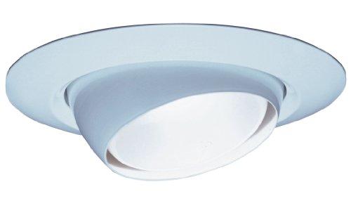 Lithonia Lighting 7E1 TOR R6 6-Inch Standard Eyeball Full Reflector Recessed Light Trim, White ()
