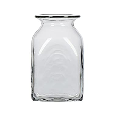 CASAMOTION Clear Hand Blown Art Glass Vase, Gift Boxed, 13 Inch