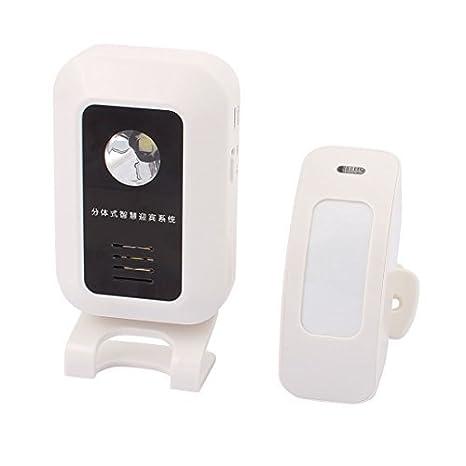 Sensor de movimiento infrarrojo inalámbrico 433MHz eDealMax de Split Bienvenido dispositivo de alarma antirrobo timbre Timbre