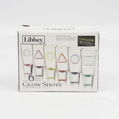 Amazoncom New 212216 Shot Glass 6pc 21ozglow Libbe 4 Pack Shot