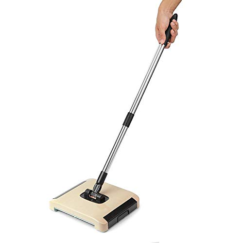 room, Carpet Sweeper Dry and Wet Floor Mopping and Cleaning Starter Kit 360° Rotation Sweep Brush Carpet Rug Sweeper ()