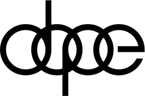 Dope Audi Rings Euro European Vinyl Graphic Car Truck Window